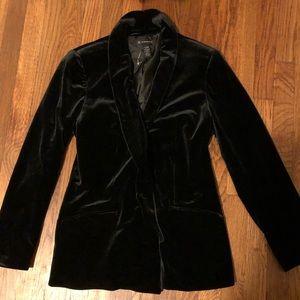 INC Women's black velvet blazer! NWOT